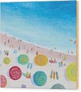 Beach Painting - Beach Bliss Wood Print