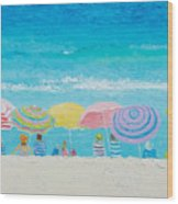 Beach Painting - Color Of Summer Wood Print