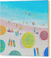 Beach Painting - Lazy Lingering Days Wood Print