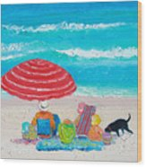 Beach Painting - One Summer Wood Print