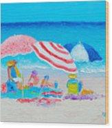 Beach Painting - Summer Beach Vacation Wood Print