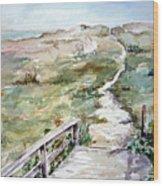 Beach Path Wood Print by Dorothy Herron