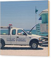 Beach Patrol Wood Print by Steven Scott