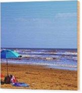 Beach Picnic Wood Print