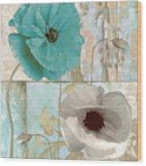 Beach Poppies II Wood Print