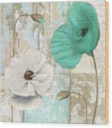 Beach Poppies Iv Wood Print