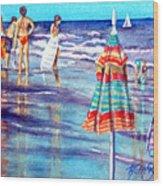 Beach Quintessentials-the Digitals Wood Print