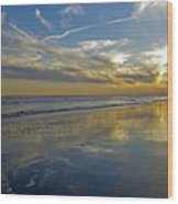 Beach Reflections Wood Print