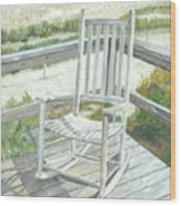 Beach Rocker Wood Print