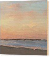 Beach Sand And Sun Wood Print
