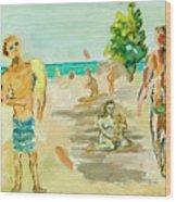 Beach Scence Wood Print