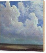 Beach Scene Albert Bierstadt Wood Print