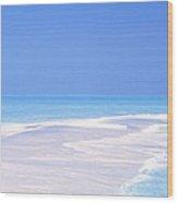 Beach Scenic The Maldives Wood Print