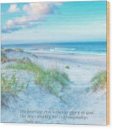 Beach Scripture Verse  Wood Print