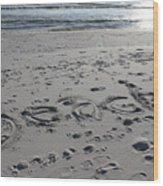 Beach, Self-named Wood Print