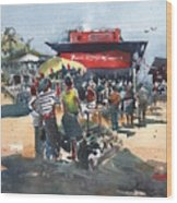 Beach Show Jamaica Wood Print