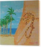 Beach Side View Wood Print