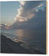 Beach Silver Lining  Wood Print