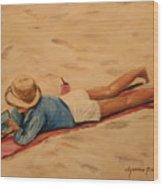 Beach Study Wood Print