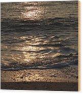 Sunrise Ocean Wave Reflection 1 Wood Print