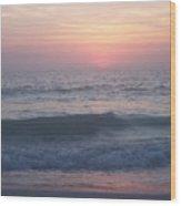 Beach Sunset 1 Wood Print