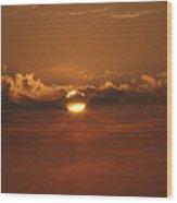 Beach Sunset 2 Wood Print