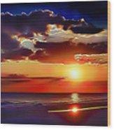 Beach Sunset 5184 Wood Print