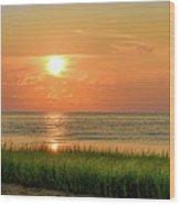 Beach Sunset Glory Wood Print