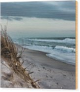 Beach Surrender Wood Print