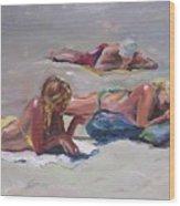 Beach Talk Wood Print