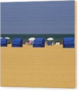 Beach Tents Wood Print