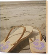 Beach Therapy Wood Print