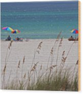 Beach Time At The Gulf - Before The Oil Spill Disaster Wood Print