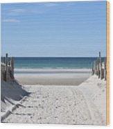 Beach Time Entrance Wood Print
