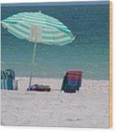 Beach Time Is Near Wood Print