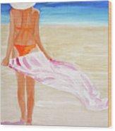 Beach Towel Wood Print