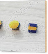 Beach Tracks Wood Print