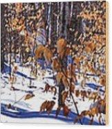 Beach Tree's In Winter Wood Print