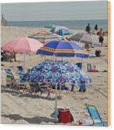 Beach Umbrella 27 Wood Print