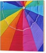 Beach Umbrella's Cell Phone Art Wood Print