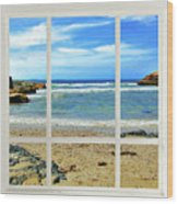 Beach View From Your Living Room Window Wood Print