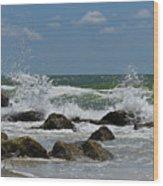 Beach Waves001 Wood Print