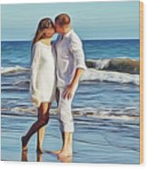 Beach Wedding Wood Print