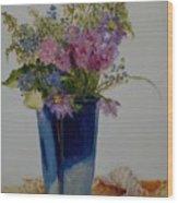Beach Wildflowers            Copyrighted Wood Print