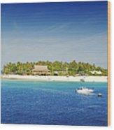 Beachcomber Island Wood Print