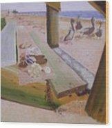 Beachcomber Wood Print