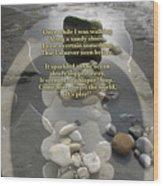 Beachcombing V2 Wood Print