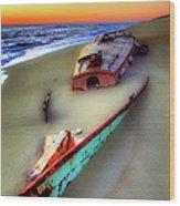 Beached Beauty Wood Print by Dan Carmichael