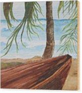 Beached Boat Wood Print