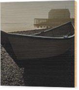 Beached Dory 2 Wood Print